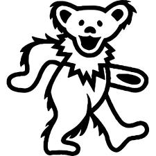 Grateful Dead Dancing Bear Decal Grateful Dead Thriftysigns