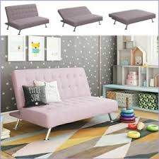 Convertible Futon Sofa Couch Kids Lounger Comfortable Tufted Sleeper Bed Lilac Ebay