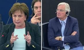 VIDEO: Watch DUP MEP cut off by EU chief as she attacks Barnier over Brexit  backstop | UK | News | Express.co.uk