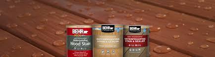 Semi Transparent Wood Stains Waterproofing Wood Coatings Behr