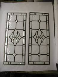 beveled glass and clear water glass