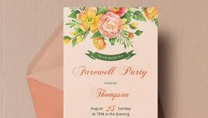 farewell party invitation template