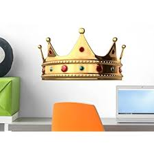 Amazon Com Wallmonkeys King S Crown Wall Decal Peel And Stick Graphic Wm69393 18 In W X 13 In H Home Kitchen