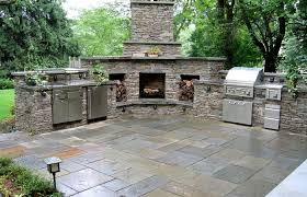 outdoor kitchen patio backyard lean to