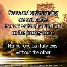 peace and understanding are soul mates inspirational quote