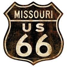 Route 66 Missouri Distressed Vinyl Sticker At Retro Planet