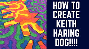 Keith haring art project for kids - YouTube