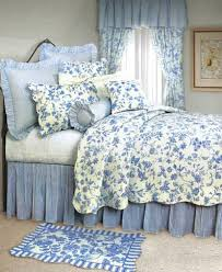 brighton blue toile quilt bedding by