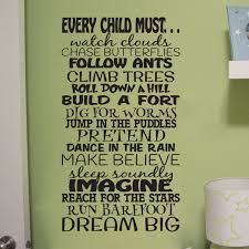 Every Child Must Dream Big Vinyl Wall Decal Children Subway Art