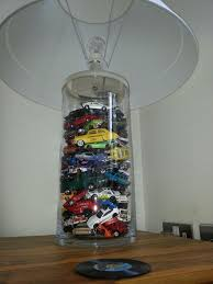 Love This Car Lamp Idea Buy A Vessel Lamp And Fill With Any Old Toys For The Kids Car Themed Bedrooms Cars Room Boy Room