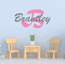 Amazon Com Boy S Custom Name And Initial Wall Decal Choose Your Own Name Initial And Letter Styles Multiple Sizes Vinyl Decor Wall Sticker Decor Wall Decal Sticker Wall Decal Vinyl Wall Stickers For