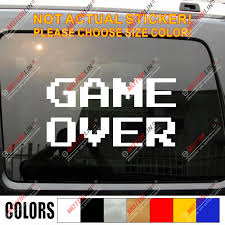 Game Over Track Funny Car Decal Vinyl Sticker Choose Your Size Color Vinyl Stickers Funny Carfunny Car Decal Aliexpress