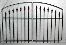 Wrought Iron Gates For Garden 3 X 5 Cast Iron Finials