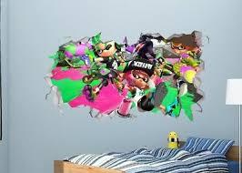 Splatoon Wall Decal Sticker Bedroom Vinyl Kids Art Decor Squid Pink