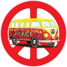 Hippie Bus Peace Sign Sticker U S Custom Stickers