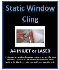 Static Clear Window Cling Diy Print Your Own Window Decorations In Mr Decal Paper