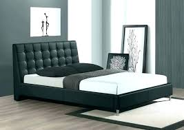 ireland queen faux leather bed black