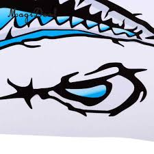 Magideal 2 Pieces Large 3d Shark Teeth Mouth Sticker Kayak Fishing Boat Decals For Car Window Motorcycle Bike Decoration Gift Rowing Boats Aliexpress