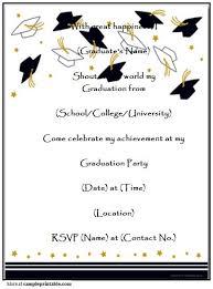 homemade graduation party invitation