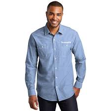 Port Authority Men S Chambray Shirt
