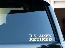 U S Army Retired Vinyl Window Decal Sticker Ebay