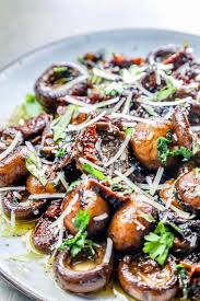 Garlic Butter Parmesan Tuscan Mushrooms ...
