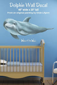 Dolphin Wall Decal Ocean Wall Stickers Sea Life Wall Decals Kids Wall Murals Dolphins Wall Decals