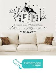 A Home Is Made Of Hopes Dreams Vinyl Wall Art Sticker Mural Decal Home Wall Decor Family Home Quot Sticker Wall Art Wall Stickers Home Vinyl Wall Art