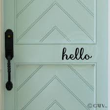 Hello Front Door Vinyl Lettering Removable Decal Sticker 4 H X 8 W Black Walmart Com Walmart Com