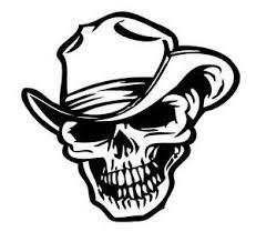 Skull Vinyl Decal Cowboy Skull Sticker Western Vinyl Decals Ebay
