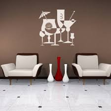 Cocktails Drinks Alcohol Party Decal Vinyl Sticker Wall Decor Vinylwallaccents On Artfire