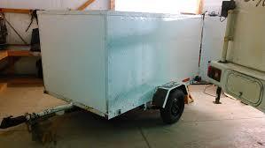 run down decades old cargo trailer now