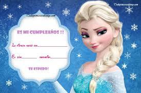 Idea Invitaciones Unica De Cumpleanos De Frozen Para Imprimir