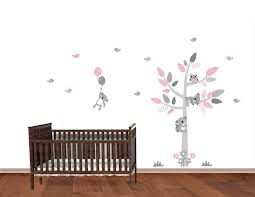 Pink And Gray Koala Bear Stickers With Tree For Kids Westickerthang 99 99