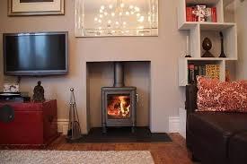 wood burning stove no surround wood