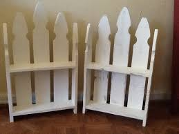 Picket Fence Wall Shelf Etsy Picket Fence Decor Wall Shelves Picket Fence