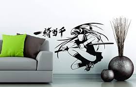 Amazon Com Wall Vinyl Decals Samurai Girl Choun Shiryu Japanese Katana Swords Anime Vinyl Wall Sticker Decal Made In Usa Home Kitchen