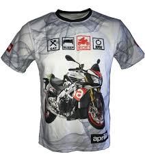 aprilia tuono v4 t shirt with logo and