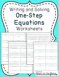 one step equations word problems pdf