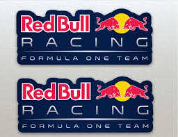 Red Bull Formula One F1 Racing Blue Background Stickers X 2 Etsy
