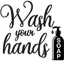 Wash Your Hands Vinyl Decal Sticker Bathroom Mirror Hygiene Sign Soap Clean Ebay