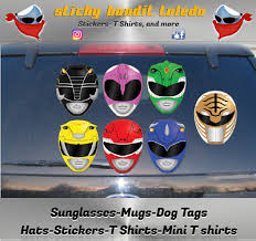 Lap Mighty Morphin Power Rangers White Ranger Helmet Vinyl Decal For Car Home