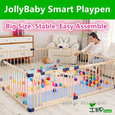 Us 82 78 41 Imp House Baby Safety Jollybaby Wooden Playpen Play Yard Keep Your Baby Safe Baby Play Yard Baby Play Areas Baby Playpen