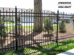 Black Wrought Iron Fence In Backyard And Front Yard Wrought Iron Fences Backyard Fences Iron Fence