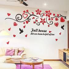 3d Bird Love Flower Vine Wall Decals Art Tv Background Acrylic Mirror Wall Stickers Decorations Living Room Wallpaper Sticker Acrylic Mirror Wall Sticker Mirror Wall Stickerswall Sticker Aliexpress