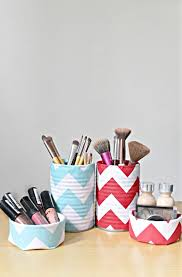 makeup storage containers from fabric