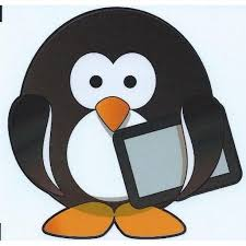 4in X 4in Tablet Penguin Vinyl Bumper Sticker Decal Car Window Stickers Decals Walmart Com Walmart Com