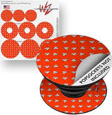 Amazon Com Decal Style Vinyl Skin Wrap 3 Pack For Popsockets Paper Planes Red Popsocket Not Included By Wraptorskinz Everything Else
