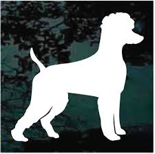 Poodle Heart Silhouette Decals Car Window Stickers Decal Junky