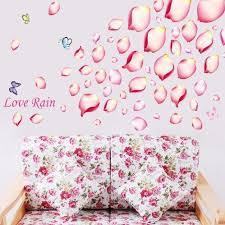 Wall Sticker Outlet Yyone Love Rain Quote Pink Petal Leaves Butterflies Wall Decal Home Decor Sticker With Images Wall Decor Decals Wall Decor Stickers Spring Wall Decals